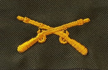 Infantry Branch of Service, Sew-On Color