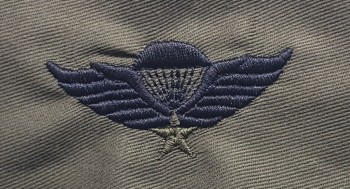Vietnamese (RVN) Parachute Qualification Badge. Embroidered, Subd.