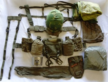 US Army Complete Field Gear Package, VG
