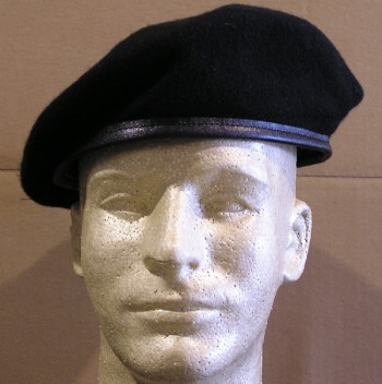 Beret, Man's, Wool (Black)