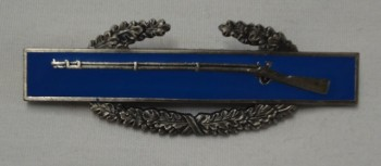 Combat Infantryman's Badge, CIB, Pin-On Metal.