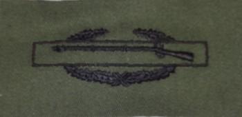 Combat Infantryman's Badge, CIB, Subdued