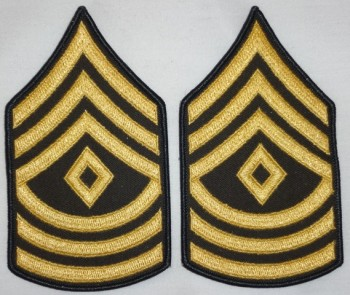 1st Sergeant, Color Sleeve Set (Gold on Green)