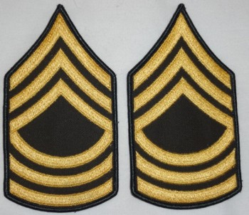 Master Sergeant, Color Sleeve Set (Gold on Green)