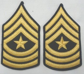 Sergeant Major, Color Sleeve Set (Gold on Green)
