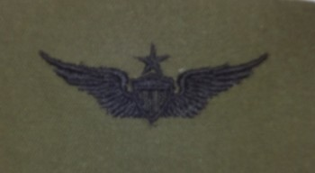Army Aviator Badge, Senior. Subdued.