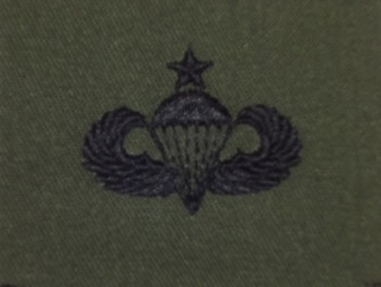 Parachute Qualification Badge, Senior. Subdued.