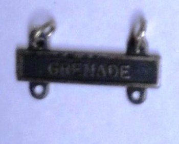 Grenade Qualification Bar for Marksman Badge.