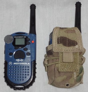 Radio Pouch, Hand Held, Multicam