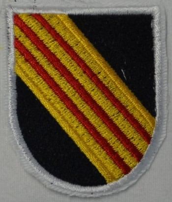 "5th Special Forces Beret Flash, Non-Merrowed ""Cut-Edge."""