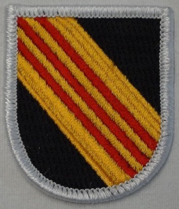 5th Special Forces Beret Flash, Merrowed.