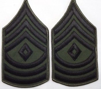 1st Sergeant, Subd. Sleeve Set (Black on Green)