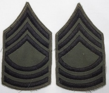 Master Sergeant, Subd. Sleeve Set (Black on Green)
