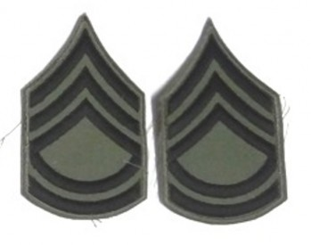 Sergeant 1st Class, Subd. Sleeve Set (Black on Green)