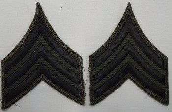 Sergeant, Subd. Sleeve Set (Black on Green)