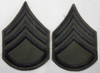 Staff Sergeant, Subd. Sleeve Set (Black on Green)