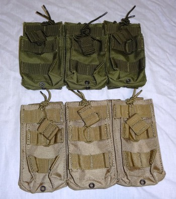 M4 Triple Stack (6) Magazine Pouch, OD or Tan