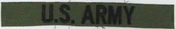 US ARMY Branch Tape, Embroidered, Subdued