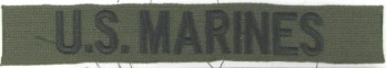 US MARINES Branch Tape, Embroidered, Subdued