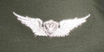 Army Aircraft Crewman Badge, Basic. Color