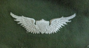 Army Aviator Qual Badge, Basic. Color