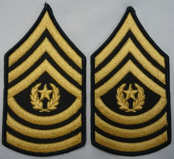 Command Sergeant Major, Color Sleeve Set (Gold on Green).