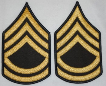 Sergeant 1st Class, Color Sleeve Set (Gold on Green)