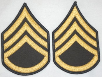 Staff Sergeant, Color Sleeve Set (Gold on Green)