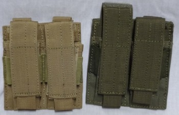 Double Pistol Mag Pouch, OD or Tan