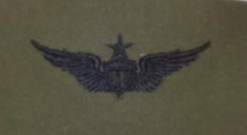 Army Aviator Badge, Senior. Subdued.