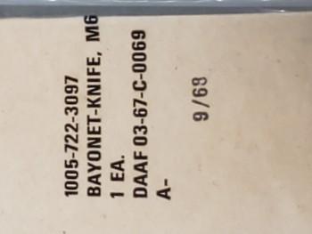 M6 Bayonet, NOS