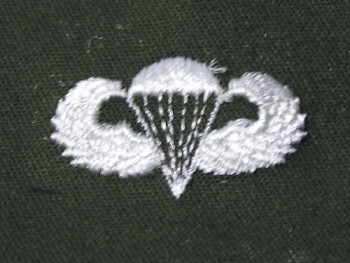 Parachute Qualification Badge, Basic. Color.