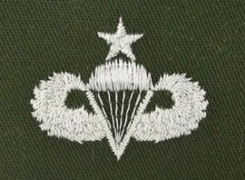 Parachute Qualification Badge, Senior. Color