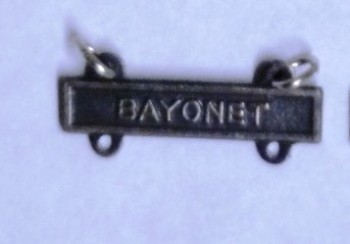 Bayonet Qualification Bar for Marksman Badge.