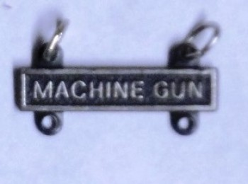 Machine Gun Qualification Bar for Marksman Badge.