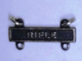 Rifle Qualification Bar for Marksman Badge.