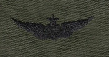 Army Aviator Qual Badge, Senior. Subdued.