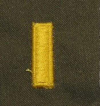 2nd Lieutenant, Sew-On Color