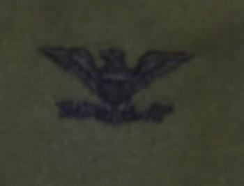 Colonel, Sew-On Subd.