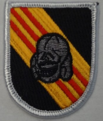 5th Special Forces Beret Flash, Merrowed with Skull.