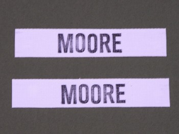 Name Tape Set (2), Stamped, White