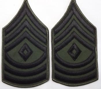 1st Sergeant, Subd. Sleeve Set (Black on Green)