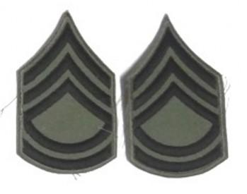Sergeant 1st Class, Subd. Sleeve Set (Black on Green)