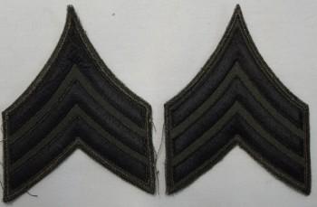 Sergeant, Subd. Sleeve Set (Black on Green)