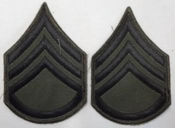 Staff Sergeant, Subd. Sleeve Set (Black on Green)