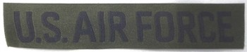 U.S. Air Force Tape, Woven, Subdued