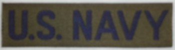 U.S. Navy Branch Tape, Woven, Subdued