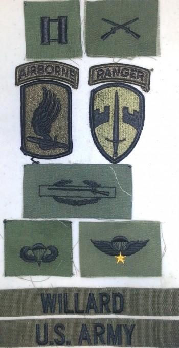 Capt. Willard Insignia Package